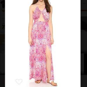 Somedays Lovin Paisley Heat Maxi Split Dress